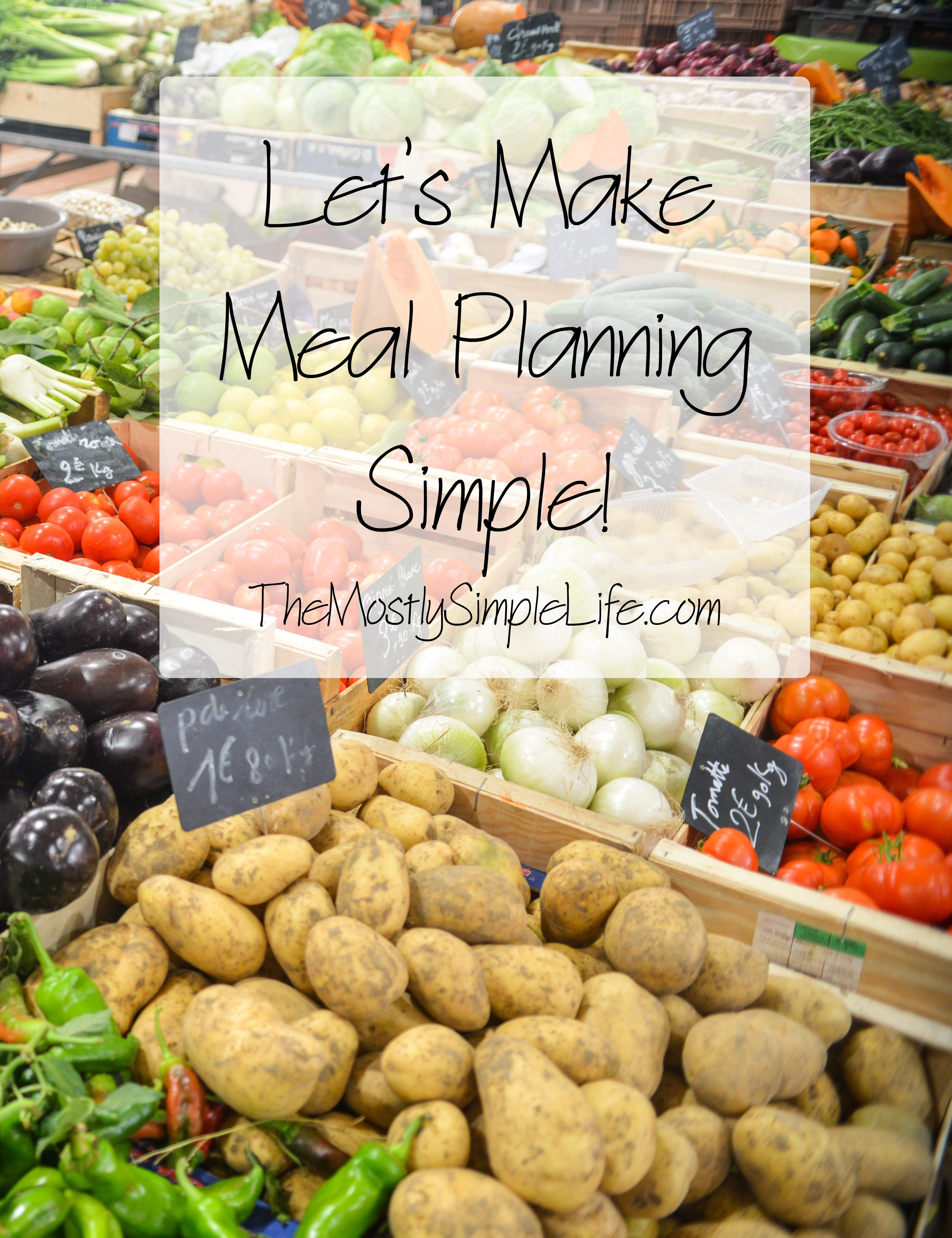 2 Step Easy Meal Planning