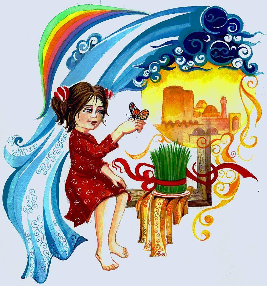 Pin By Nazka On Novruz Bayrami Novruz Holiday Prazdik Novruz Cartoon Styles Folklore Art Human Figure Drawing