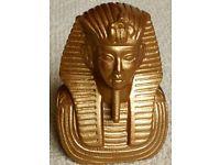 Antique gold painted bust of Tutankhamun