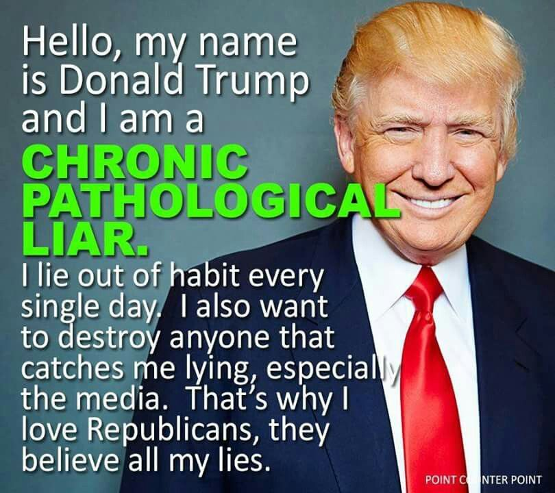 Image result for trump is pathological