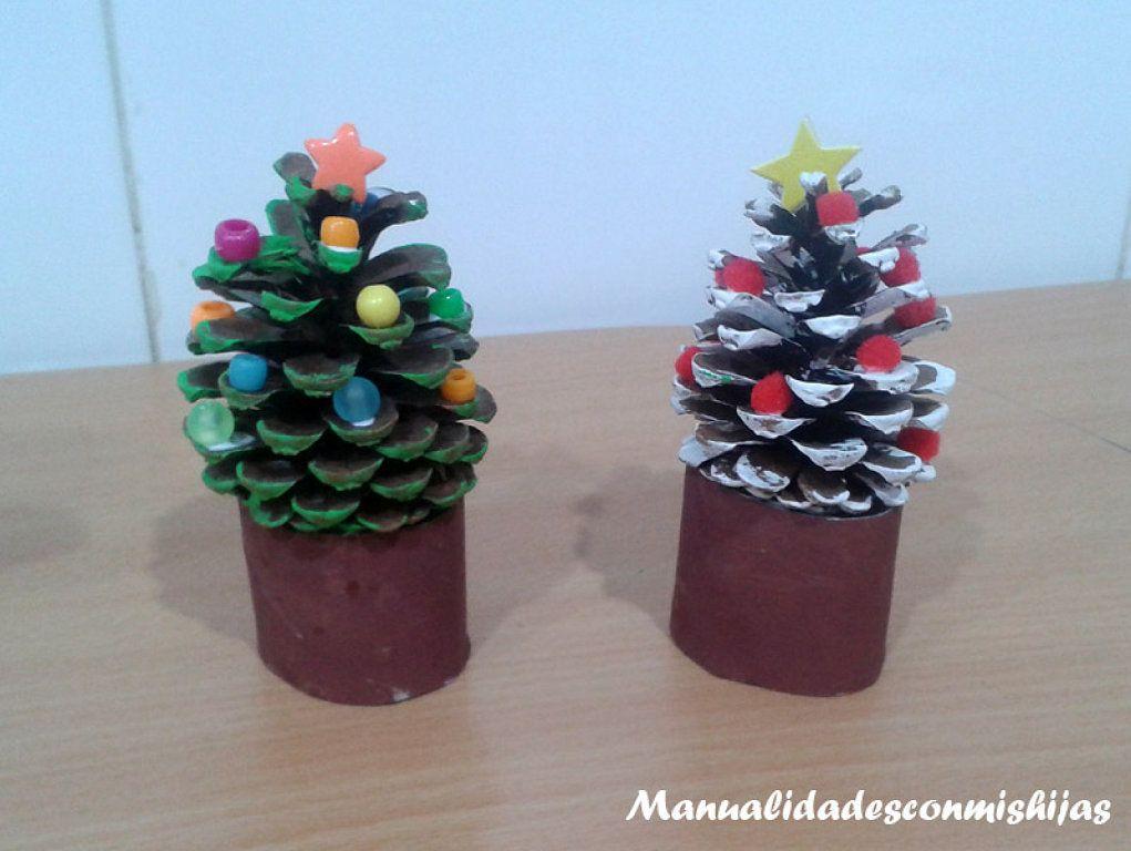 Ideas Para Decorar Estas Navidades Que No Te Puedes Perder - Manualidades-navideas-con-pias