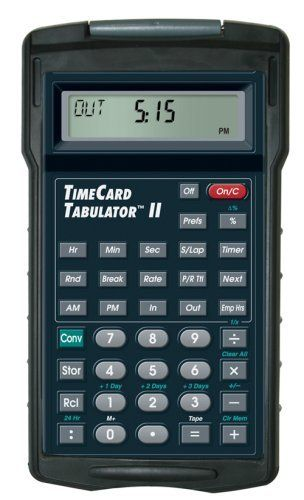 Calculated Industries 9530 TimeCard Tabulator II by Calculated - time card