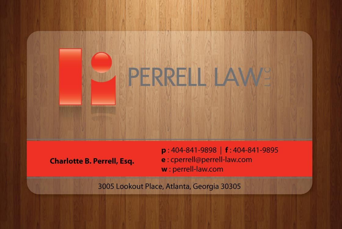 Business Card Design For Perrell Law Graphic design