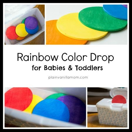 Rainbow Color Drop Game for Babies and Toddlers | Motor skills ...