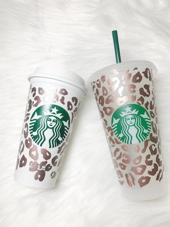 Custom Starbucks Cup Cheetah Print In 2020 Custom Starbucks Cup Starbucks Cups Personalized Starbucks Cup