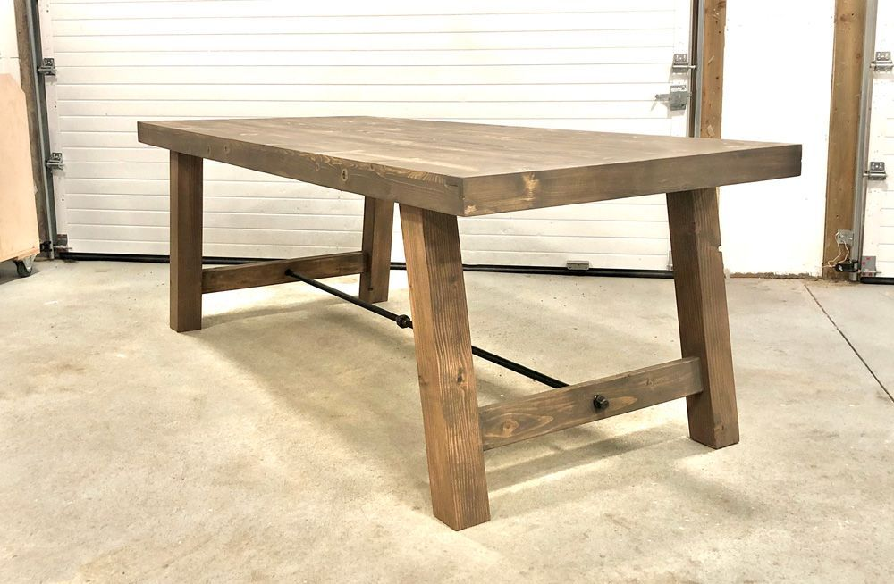4x4 Leg Industrial Farmhouse Table Ana White