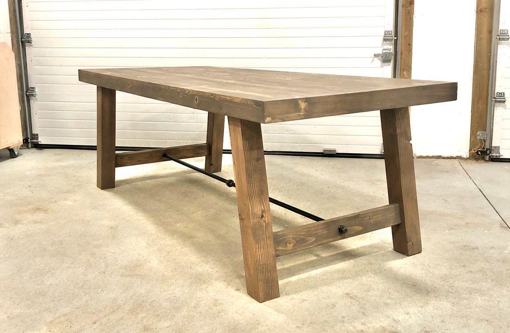 4x4 Leg Industrial Farmhouse Table Ana White