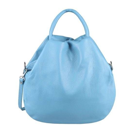 OBC Made in Italy Womens Leather Tote Bag Hobo Bag Tote Vintage Tote Bag Handbag Shoulder Bag Shoulder Bag Bucket Bag Crossbody Turquoise  Unbedingt kaufen