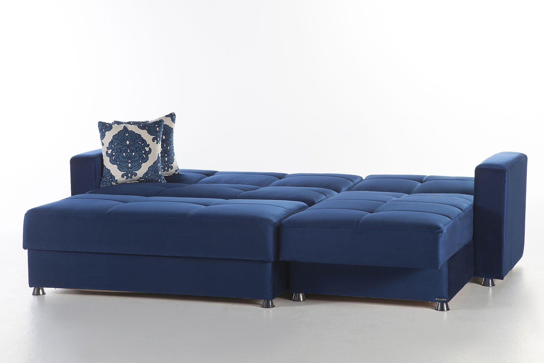 Best Istikbal Elegant Blue Microfiber Small Sectional Sofa W 400 x 300