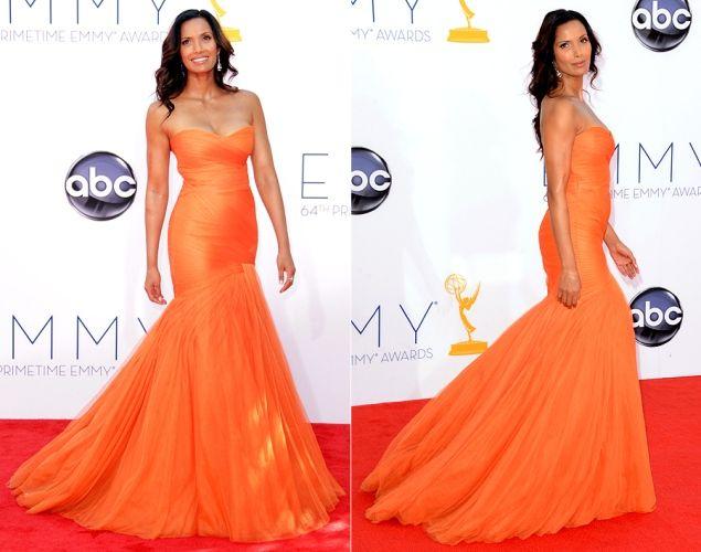 #Emmy 2013 Padma Lakshmi wore #MoniqueLhuillier #Bridal #Wedding #Fashion