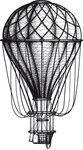 Vintage hand drawn engraving air balloon
