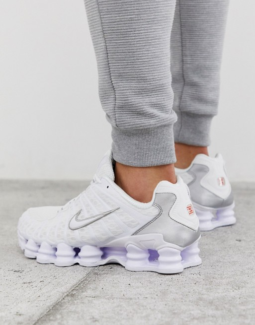Nike Shox TL trainers in white AV3595 100 in 2019 | Nike