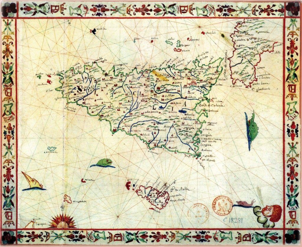 Cartina Sicilia Grande.Cartina Sicilia Sicilia Carte Geografiche Geografia