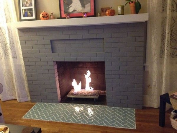 I Like This Tile Hearth Tiles Fireplace Hearth Brick Fireplace Remodel