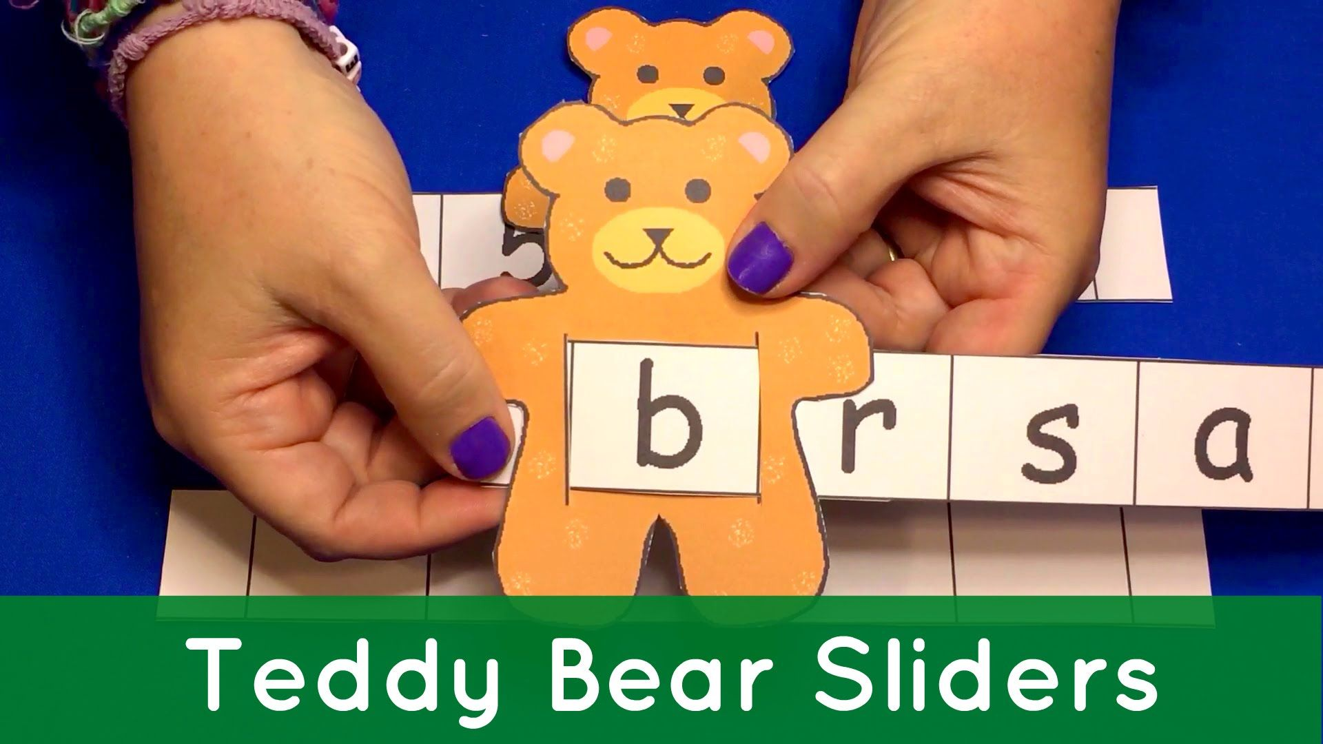 Teddy Bear Sliders For Preschool Learning Letters Numbers