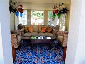 Handpainted Moroccans floor