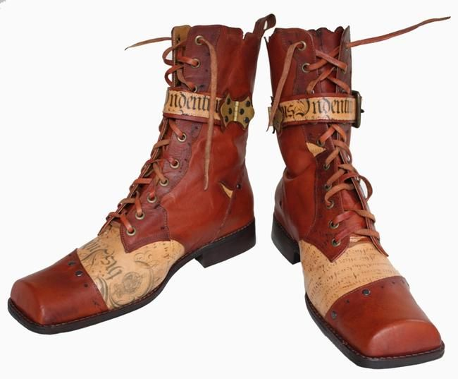 """Mens' """"Ancient Mariner Boots"""" (aren't they lovely? <3) - http://www.pendragonshoes.com/Detail_ancient-mariner.html"""