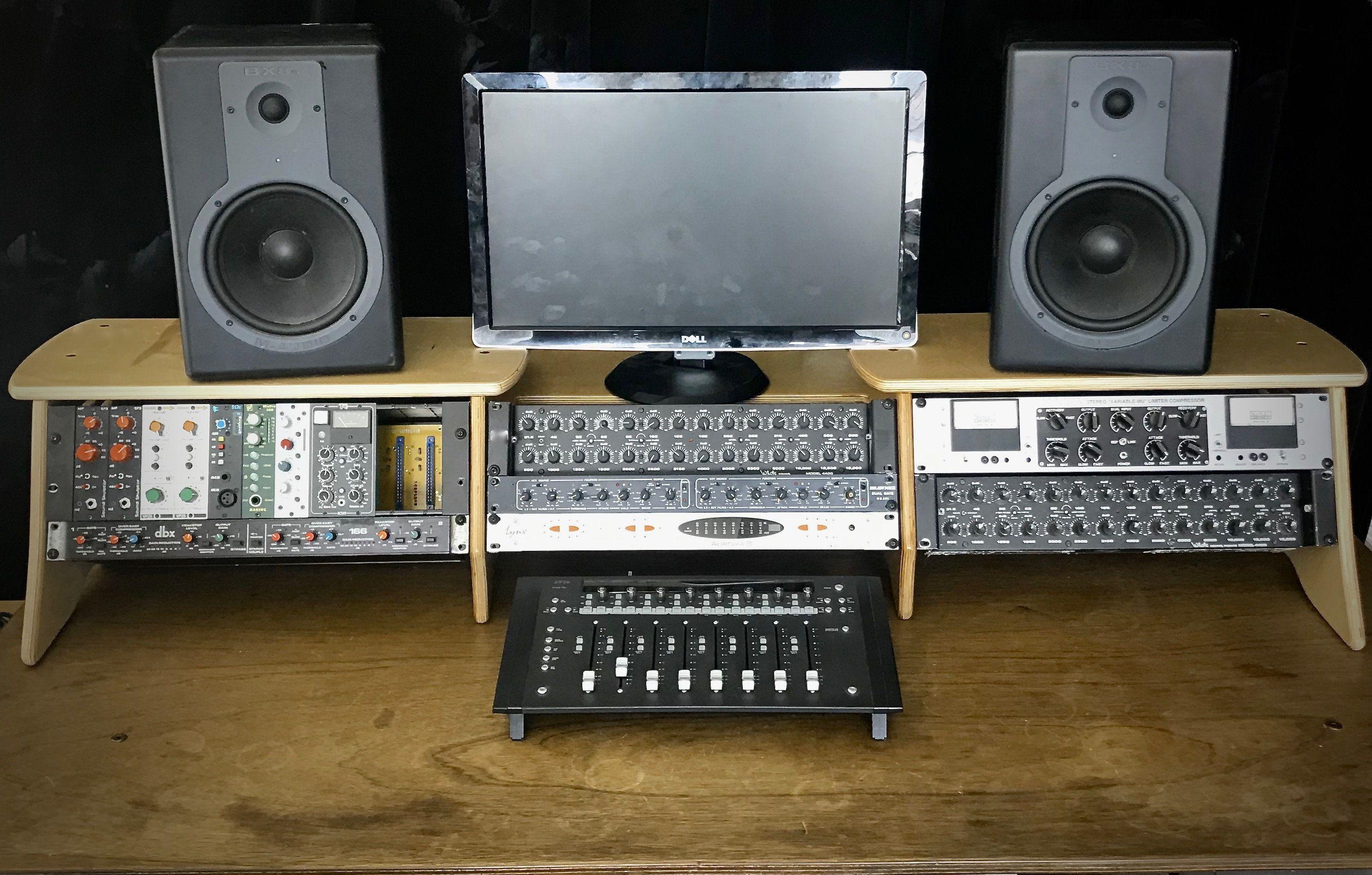 12u Recording Studio Desk Rack System 12u Studio Rack Rack Gear Pro Audio Desk Baltic Birch Rack Rail Recording Studio Desk Studio Desk Recording Studio