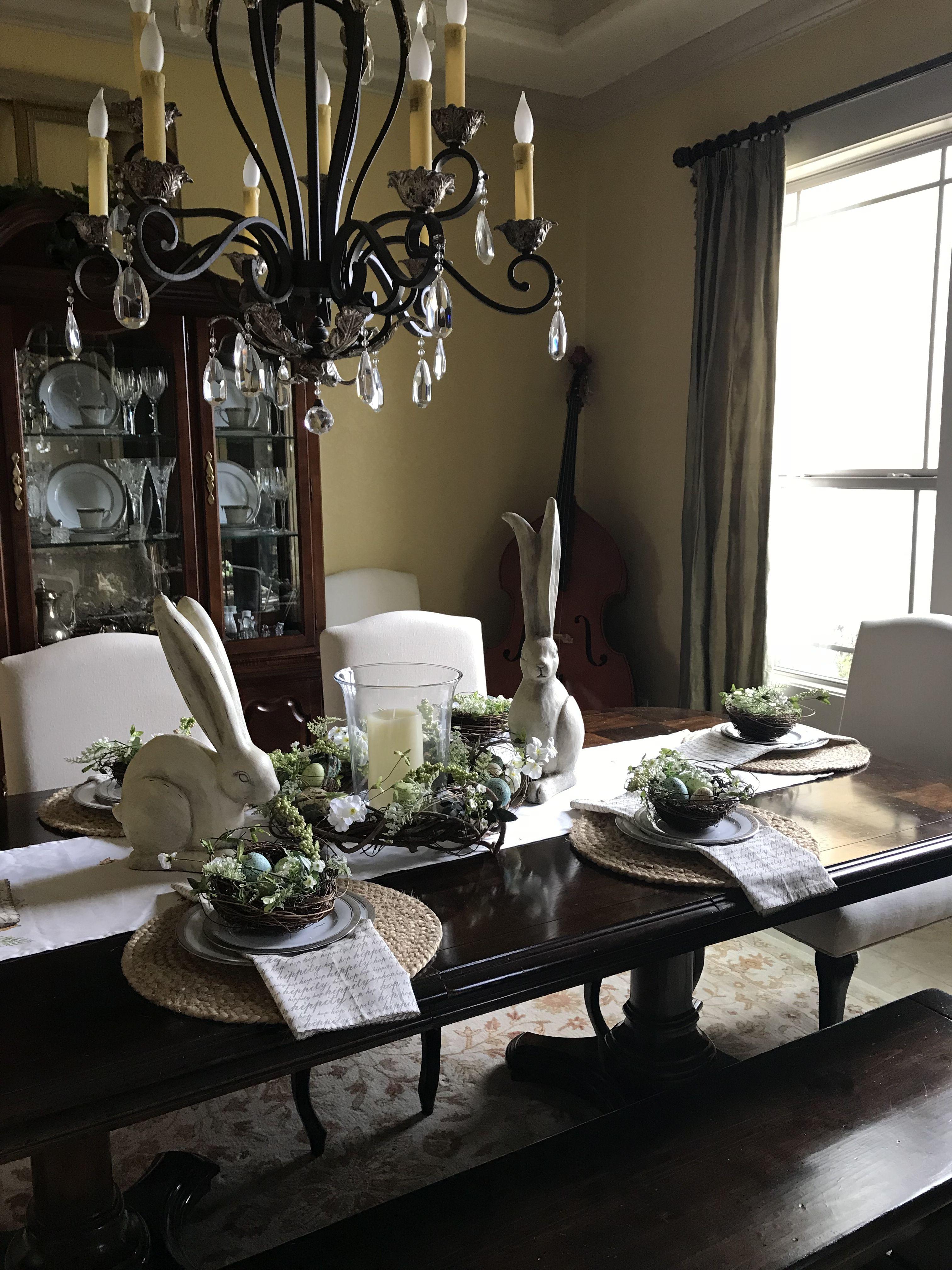 formal easter table decor natural fibers blue green cream rh pinterest co uk