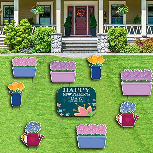 Happy Mother S Day Yard Decoration Mothers Day Sign And Https Www Amazon Com Dp B06y3lpjzj Ref Cm Sw R Pi Dp X Yard Decor Flower Arrangements Yard Cards