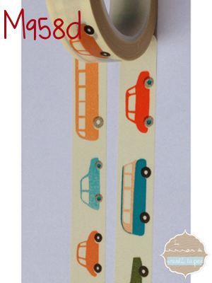 Washi Tape coches colores