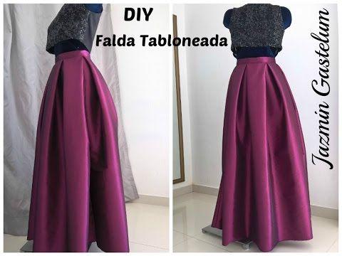 b897019a7 Falda Tabloneada Larga - Jazmin Gastelum - YouTube