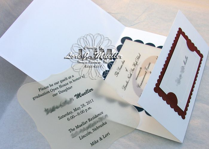1000 images about Paper Crafts Graduation Announcement Ideas on – Homemade Graduation Invitations