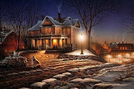Lights of Home by Terry Redlin. Want this one! | Terry Redlin ...