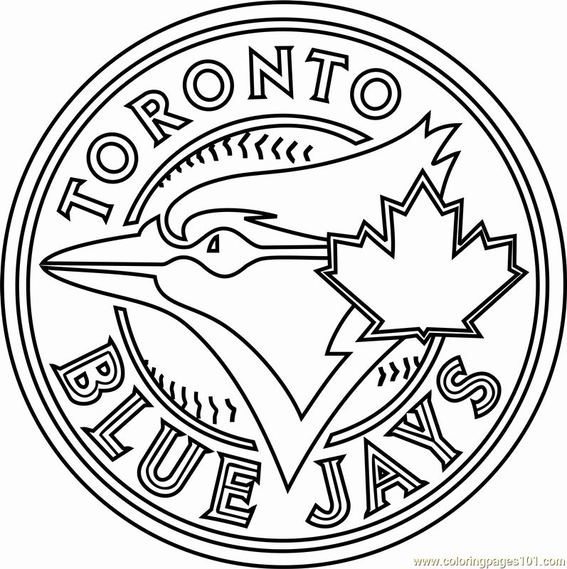 Blue Jay Coloring Page New Toronto Blue Jays Logo Coloring Page Free Mlb Coloring Coloring Pages Inspirational Coloring Pages Blue Jay