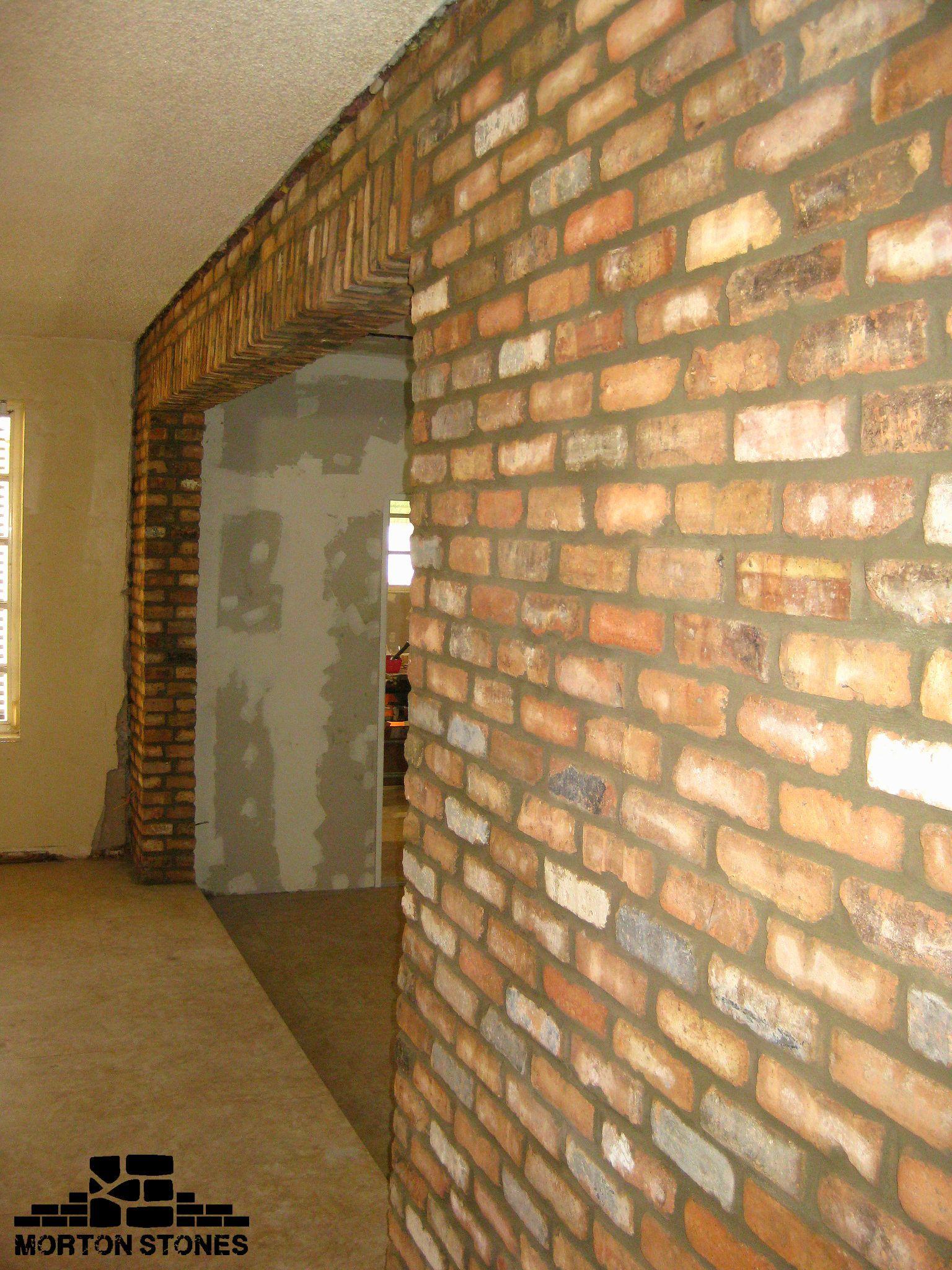 This Is Our Amazing Brick Arch Idea For Your Home Mortonstones Brickwall Rustic Modernhome Decor Interior Br Thin Brick Veneer Brick Veneer Thin Brick