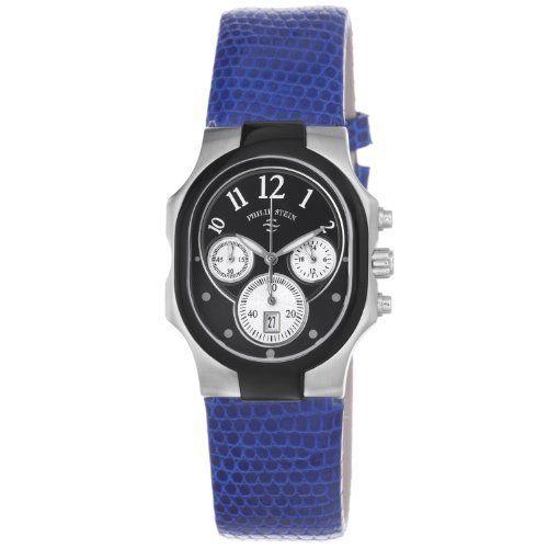 Philip Stein Women's 22TB-FB-ZDBL Classic Royal Blue Leather Strap Watch Philip Stein. $394.99