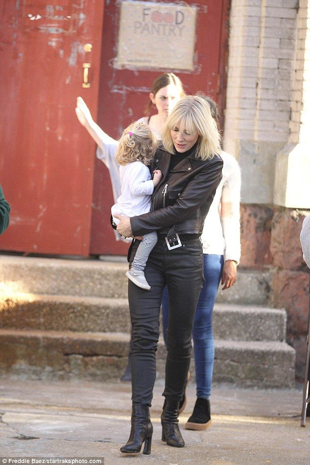 Going hell for leather! Cate Blanchett, 47, was spotted doting over one-year-old adopted d...