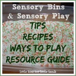 Sensory Bin Resource Page