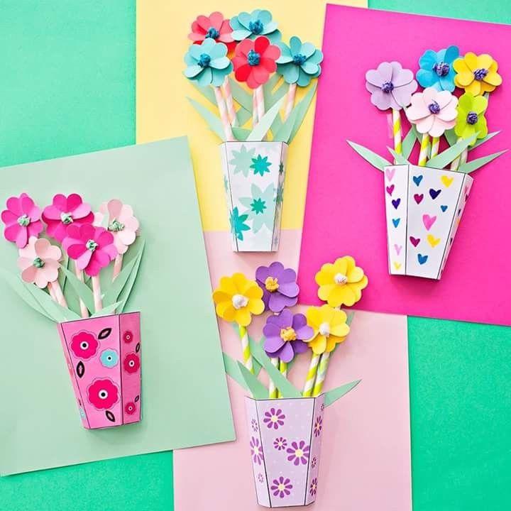 Pin By Malgorzata Sobczak On Babcia I Dziadziu Spring Crafts For Kids Flower Crafts Paper Flower Bouquet