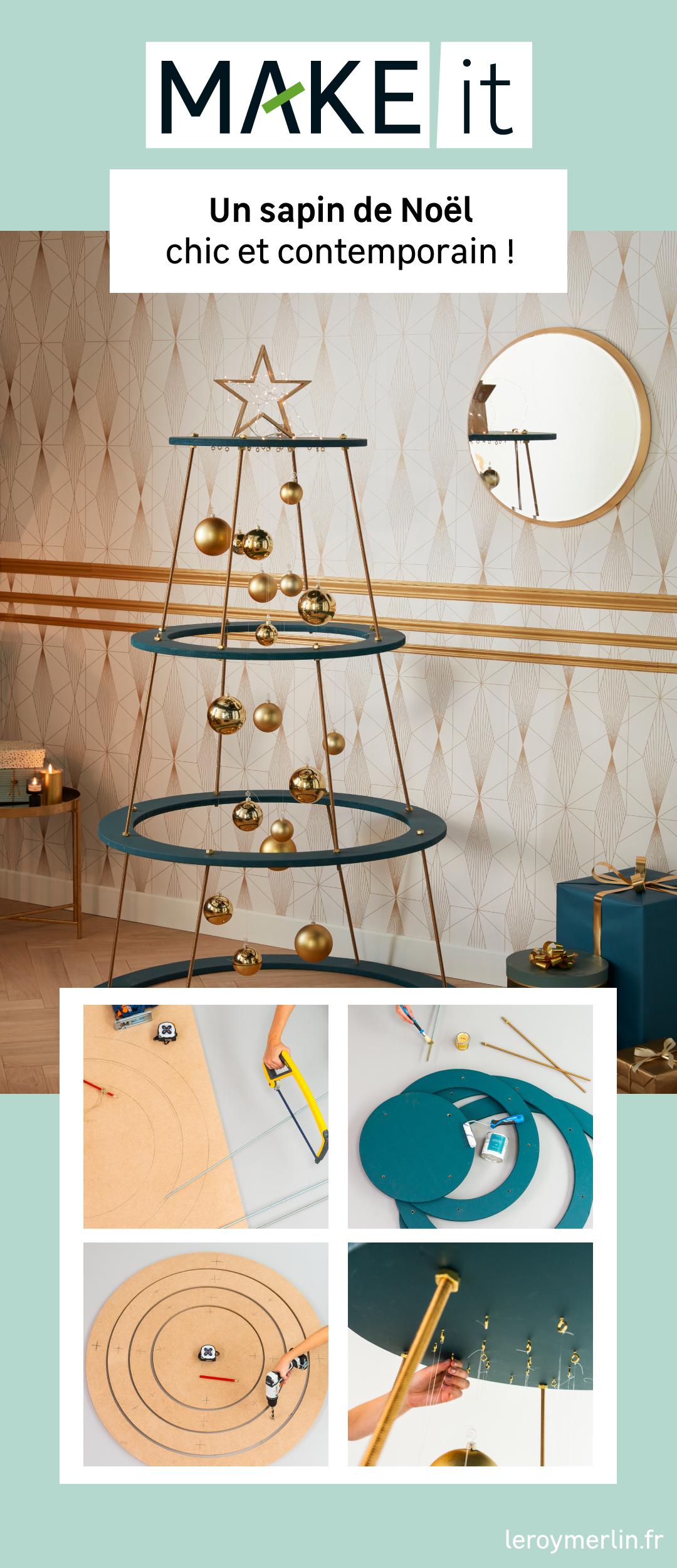 DIY : Créer un sapin de Noël chic et contemporain | Idee deco noel