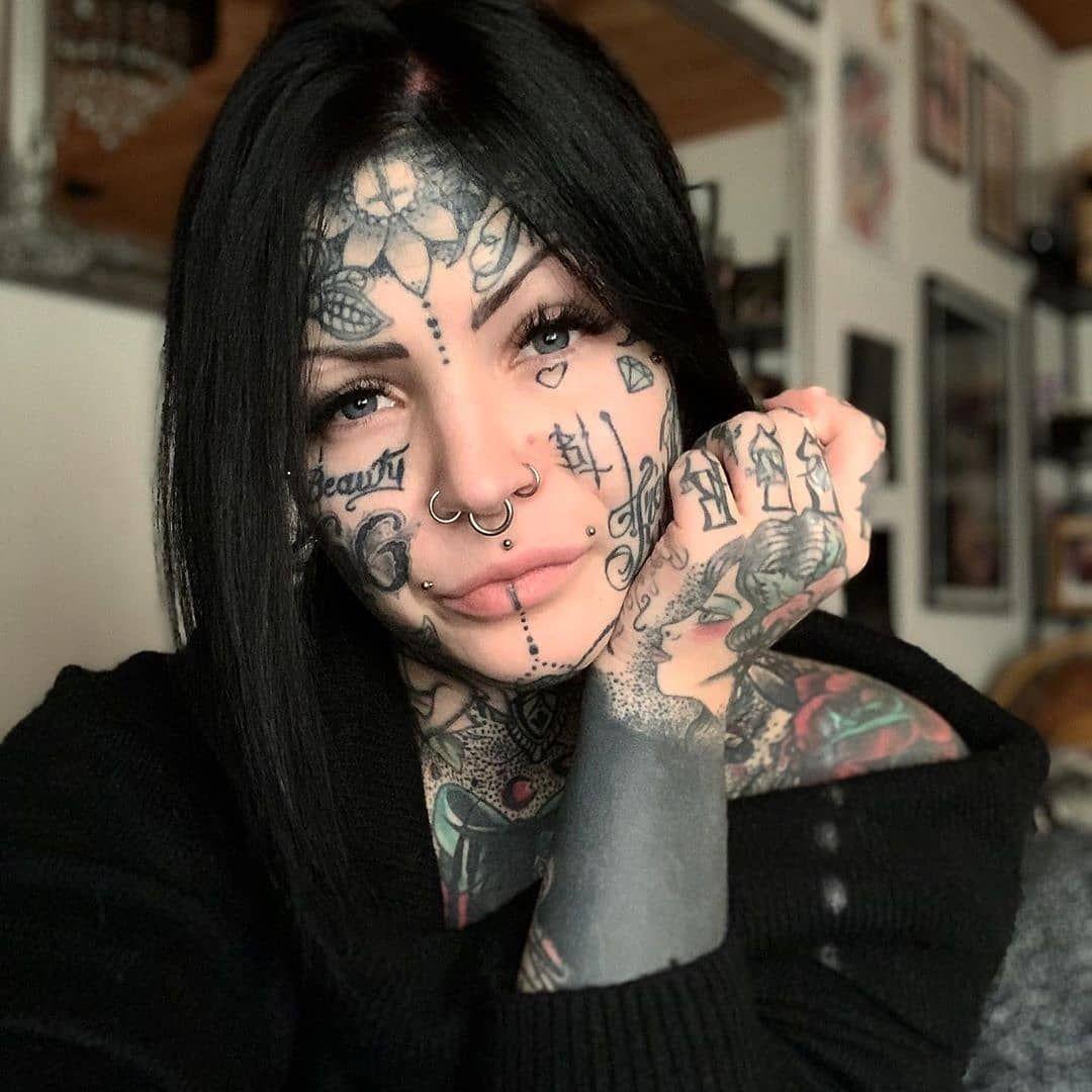 "Face Tattoo Filter Instagram: TATTOOED FACES SQUAD On Instagram: ""@aleksandrajasmin"