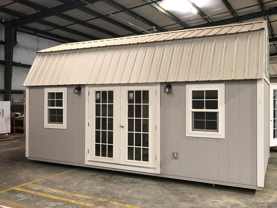 how to install french doors in a shed