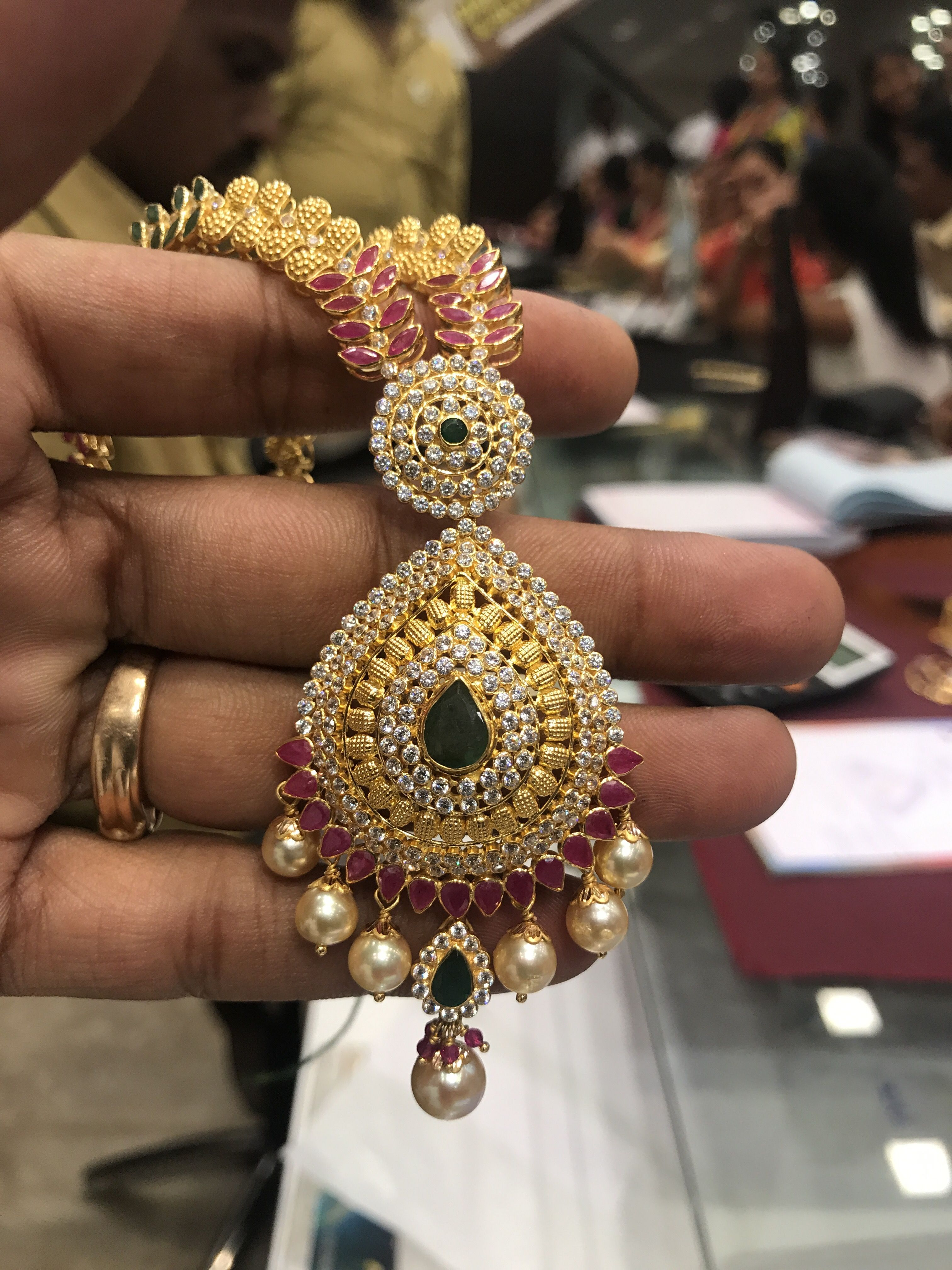 PREMRAJ SHANTILAL JAIN JEWELLERS Necklace Jewellery design