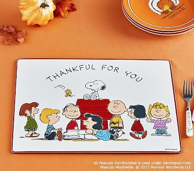 Peanuts Thanksgiving Placemat