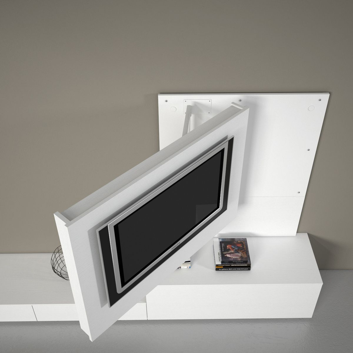 Wissmann Raumobjekte Porta Tv Girevole.Porta Tv Orientabile Girevole X2 Dettaglio Prodotto Tv Wall