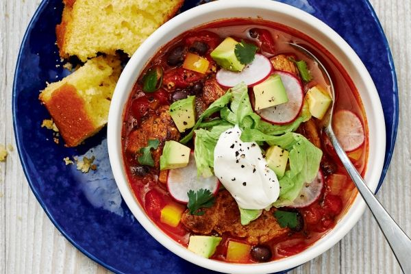 Mexican Pork and Black Bean Soup