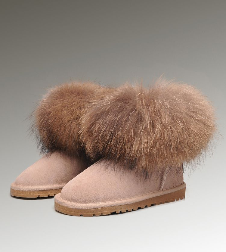 ugg mini fox fur 5854 sand boots cheap ugg fox fur boots uggs rh pinterest com
