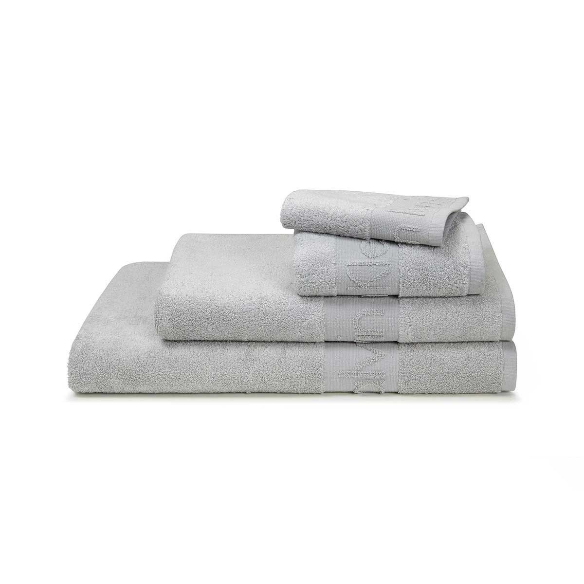 This Grey Coloured Modern Cotton Iconic Towels From Calvin Klein