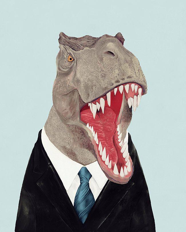 Stampa Artistica Trex Stampa Artistica Di Dinosauro Art