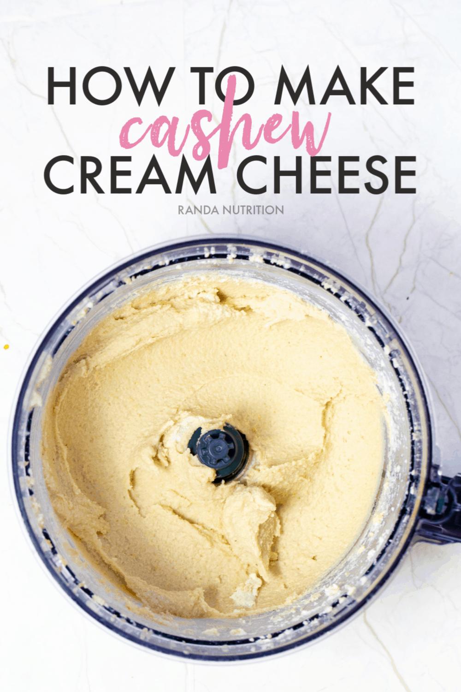 How To Make Cashew Cream Cheese Randa Nutrition Recipe Dairy Free Cream Cheese Dairy Free Cashew Cream