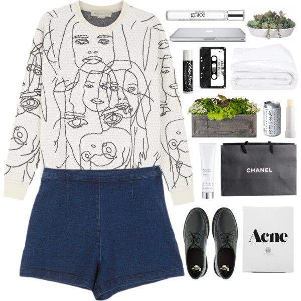 here comes the sun by unicornlovecorn on Polyvore featuring moda, STELLA McCARTNEY, Dr. Martens, philosophy, Kerstin Florian, Fresh, Frette, Jayson Home, VesseL and Chanel