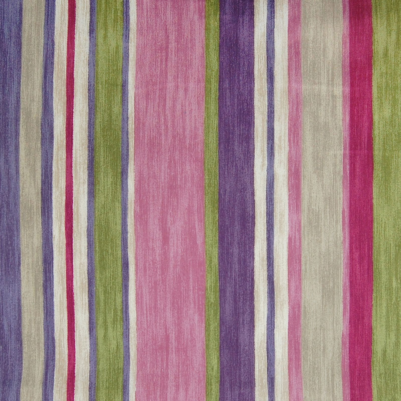 Flamingo Pink And Purple Stripe Cotton Upholstery Fabric