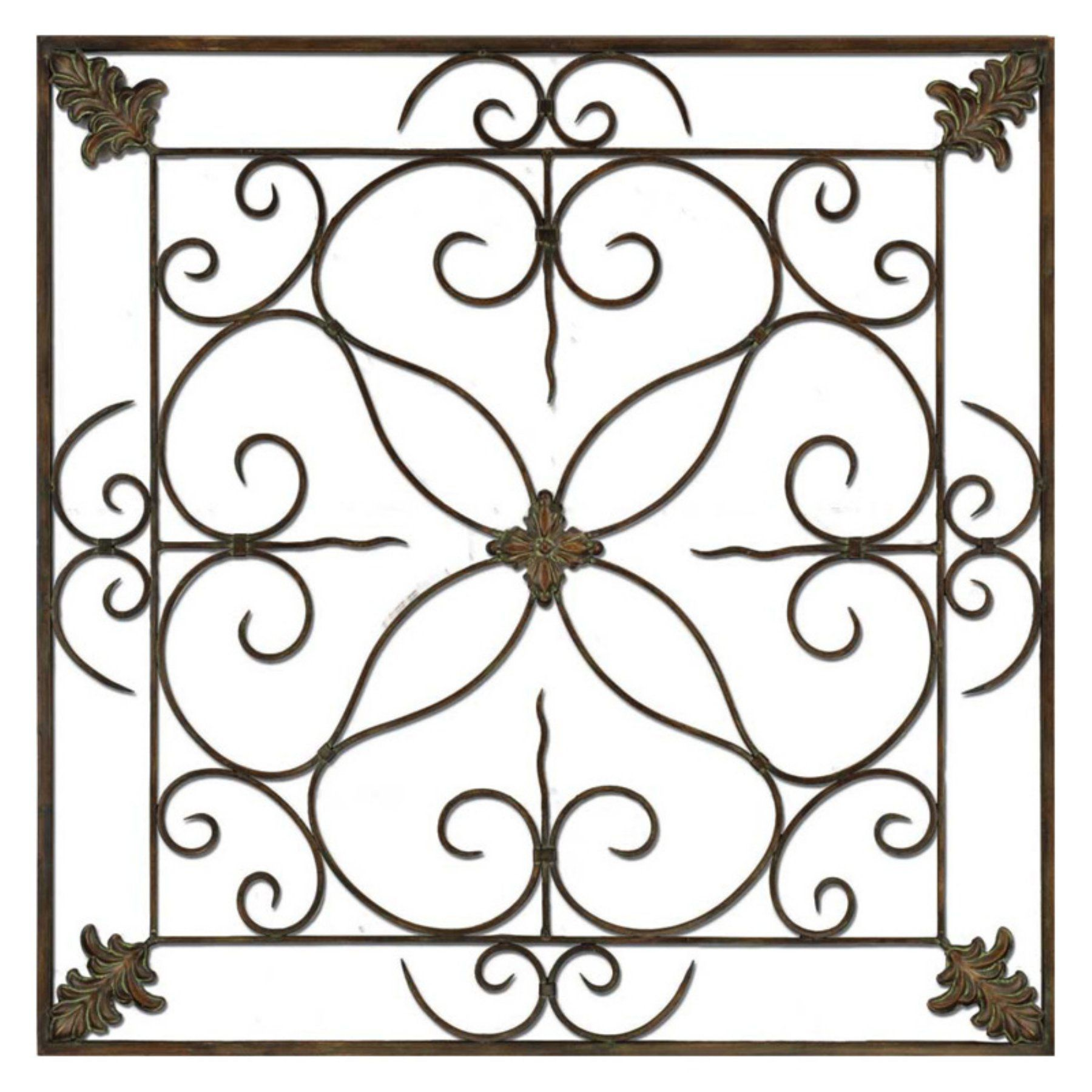 Paragon decor aged floral panel wall sculpture panel walls