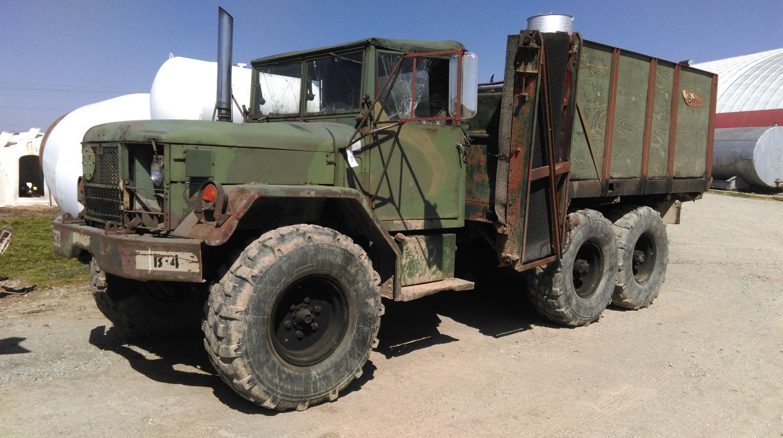 1970 M35A2 Turbo Cattle feed truck | Military vehicles for