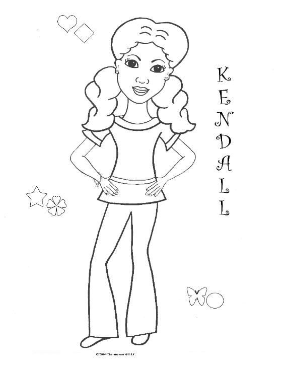 Coloring Pages For African American Girls Charmz Girl Kendall